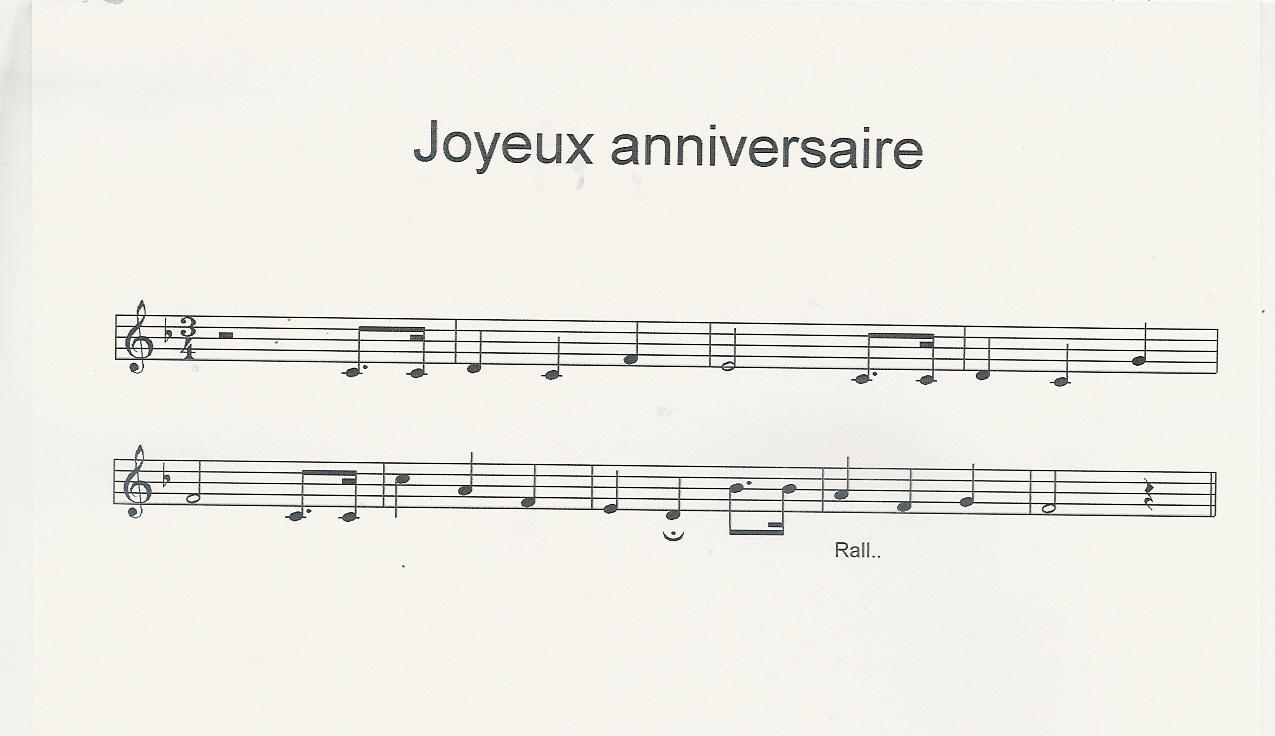 partition musicale joyeux anniversaire