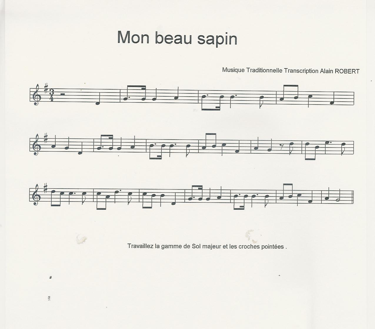 partition trompette petit papa noel gratuite
