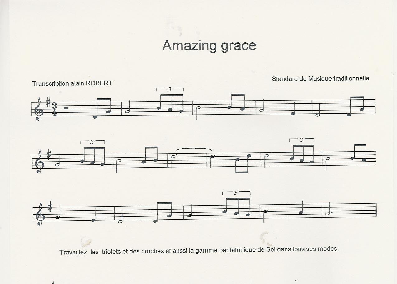 partition trompette amazing grace